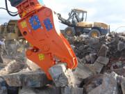 Broyeur béton rotatif 360° pelles 9 à 270 tonnes - Système de rotation hydraulique 360°