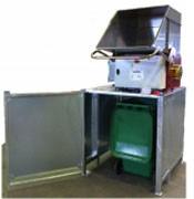 Broyeur carton emballage pour conteneur 330 litres - Section de broyage : 600 x 450 mm