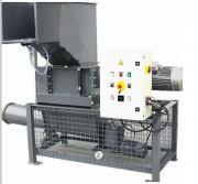 Broyeur de déchet sur conteneur - Dimensions avec châssis (LxPxH) : 1390x1560x2000 mm