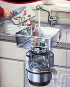 Broyeur déchets cuisine - Avec bac de récupération de déchets