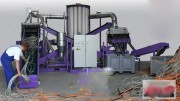 Broyeur séparateur de câbles électriques - Capacité d'entrée : 200–1200 kg / h