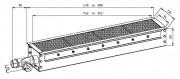 Brûleur Industriel Radiant Gaz - Puissance : 2.5 à11 KW  - Four a convoyeur - Surface de chauffe : 952 x 94 mm