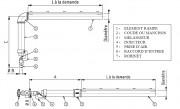 Brûleur Industriel Rampe 15 à 30 Kw - Puissance : 15  à 30 KW par metre linéaire - Arche de remission - Diamètre : 34 à 60