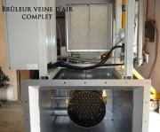 Bruleur veine d'air pour métallurgie