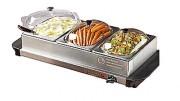Buffet chauffant 3 bacs - Haute température : de 60 °C à 70 °C