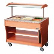 Buffet chauffant 3 bacs à bain-marie - Cuve en acier inoxydable pour 3 GN 1/1 150 mm profondeur