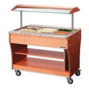 Buffet chauffant - Capacité : 3 x GN1/1