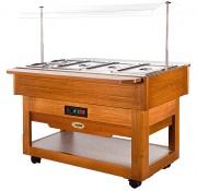 Buffet chauffant bain marie - Température de fonctionnement : +30°C/+90°C