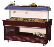 Buffet de restauration chauffant - Central mobile - Capacité : 4 ou 6 bacs