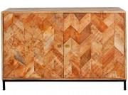Buffet en bois tropical - Dimensions: 120 x 45 x 78 cm