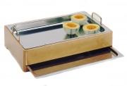 Buffet froid plateau en inox - Dimensions : 55x35x16 cm - poids : 1.31 kg