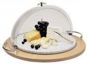 Buffet fromage à plateau tournant - Dimensions (Diam x H) : 55 x 30 cm - bois et plastique