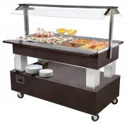 Buffet mixte avec compartiments GN 1/1 - 4 & 6 bacs GN 1/1 - Réfrigéré +2 +10°C - Chauffant +1 + 90°C