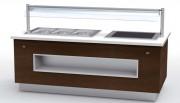 Buffet modulaire métallique profondeur 1100 - Dimensions (LxPxH) mm :  2335x1100x900 – Avec ou sans alcove