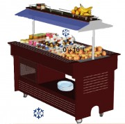 Buffet réfrigéré 4 ou 6 bacs - Central mobile - Capacité : 4 ou 6 bacs