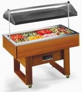 Buffet réfrigéré central - Froid statique - Capacité : 4 bacs GN1/1
