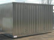 Bungalow de stockage 2 portes 4m x 2m - Volumes de rétention : de 350 jusqu'à 1454 litres