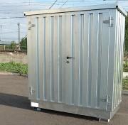 Bungalow de stockage 2 portes avec isolation 2m x 1m - Module avec rétention intégrée avec plancher avec caillebotis amovible