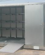 Bungalow de stockage 2 portes avec isolation 5m x 2m - Bungalow isolé avec portes battantes verrouillables