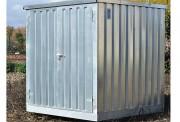 Bungalow de stockage avec rétention intégrée - Avec rétention intégrée - Capacité de rétention de 374 L