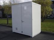 Bungalow de stockage DMS avec rétention - Capacité de rétention : 300 Litres