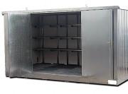 Bungalow de stockage isolé avec rétention intégrée - Modèle avec isolation - Capacité de rétention de 914 L