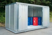 Bungalow de stockage non isolé 6m² - Capacité de rétention : 1781 litres