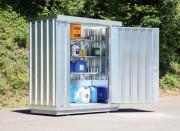 Bungalow de stockage produits polluants - Capacité de rétention : 264 litres