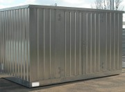 Bungalow DMS stockage rétention intégrée - Avec plancher à caillebotis amovible - Volume de rétention : 914 litres