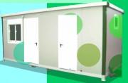 Bungalow modulaire phytosanitaire - Avec : WC  - Lavabo - Douche - Bac douche  - Cuisine