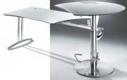 Bureau assis debout en verre - Réglable en hauteur de 680 à 790 mm