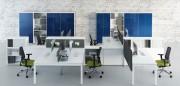 Bureau bench pour open space - Piétement en arche