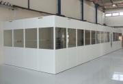 Bureau d'atelier assemblage par clavetage - Cloison de bureau en mélaminé