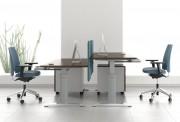 Bureau de travail réglable - Bureau réglable opératif ; individuel et bureau multiposte