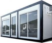 Bureau de vente modulaire - Hauteur extérieure : 248 cm