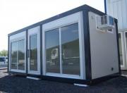 Bureau de vente préfabriquée à baies vitrées - Vitrage 4 + 4 mm