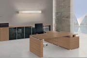 Bureau direction design - Dimensions extérieures (L x P x H) : 160 x 80 x 72/74 cm