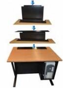 Bureau ecran escamotable - Utilisation à la fois comme bureau et comme table informatique