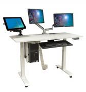 Bureau électrique pour plusieurs ordinateurs - Hauteur max : 110 cm & hauteur min 60 cm