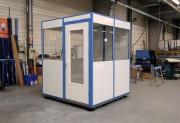 Bureau monobloc palettisable - Cabine mobile en mélaminé
