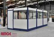 Bureau palettisable Acier - Cabine montée d'usine déplaçable à l'aide d'un chariot élévateur