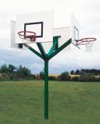 But basketball 4 têtes - Extérieur - Poteau : 1.4 x 1.4 m - Hauteur cercle : 3.05 m
