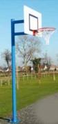 But de basket Ball avec monture en tube - Monture en tube métallique - Panneau polyester