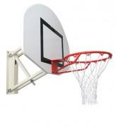 But de basket mural réglable - Réglable en hauteur par manivelle à 2,60 et 3,05 m