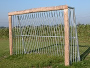 But de foot300x200 - Tout métal ou métal et bois - Profondeur : 100 cm