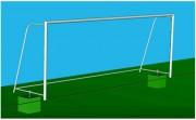 But de football Métallique - Conforme à la norme  EN748-Métalliques Ø 76mm Poudrés Blanc