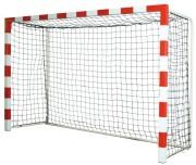 But de handball mobile de compétition - En acier 80 mm x 80 mm plastifié rouge et blanc