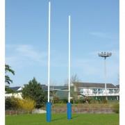 But de rugby acier galvanisé - Ø 102 mm - Hauteurs : 8 m, 11 m, 14.50 m