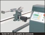 Butée numérique amenage Guidal à commande numérique - Précision : ± 0,1 mm pour un mètre - Résolution : 0,1 mm