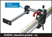 Butée numérique amenage Guidal gradué standard - Lecture sur réglet gradué